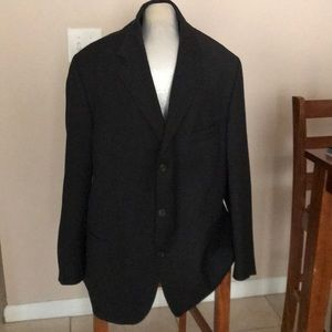 Black single breast 3 button suit jacket